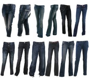 Jeanshosen gibt es in unterschiedlichsten Formen