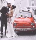Ein glückliches Brautpaar
