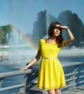 Kleid in gelb
