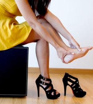 Schmerzenden High Heels