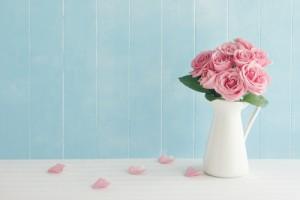 Zarte Blumen in Pastelltönen